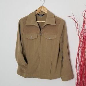 Alia | Petite Zip Front Casual Jacket 10P